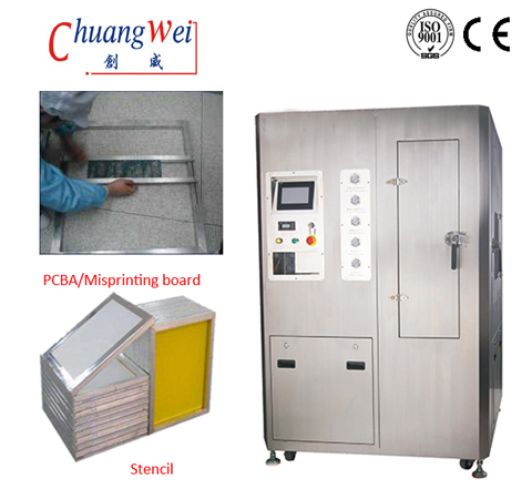 Water - based Steel Mesh /Stencil Cleaning Machine SMT Washer Manufactory,CW-800