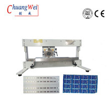 Motorized PCB Depaneling Equipment PCB Separation Machine With Conveyor , CWV-1M
